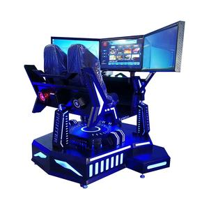Popular VR Three axle racing car with 3 screen vr motion chair simulator