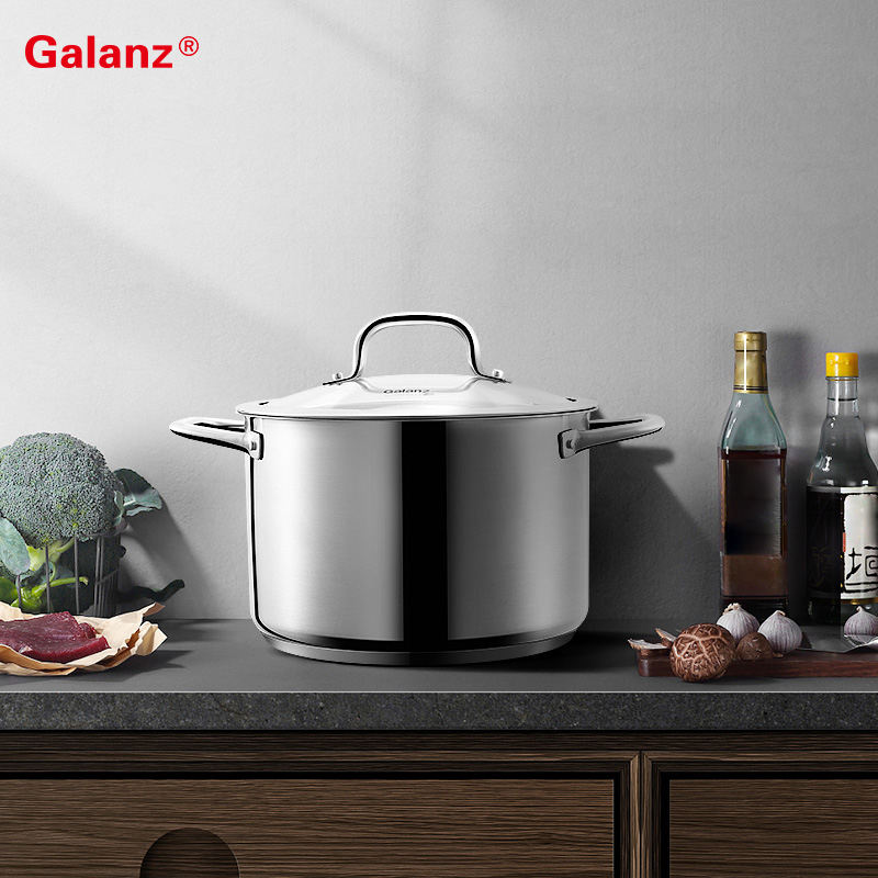 Superior Quality large stainless steel primary color cookware soup pot