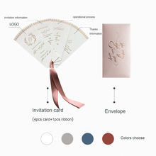 2020 New creative customized design luxury foil paper invitation card with envelope for wedding