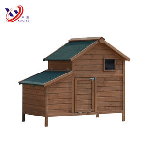 Poultry Farm Small Backyard Wooden Chicken Coop Netting With Windows