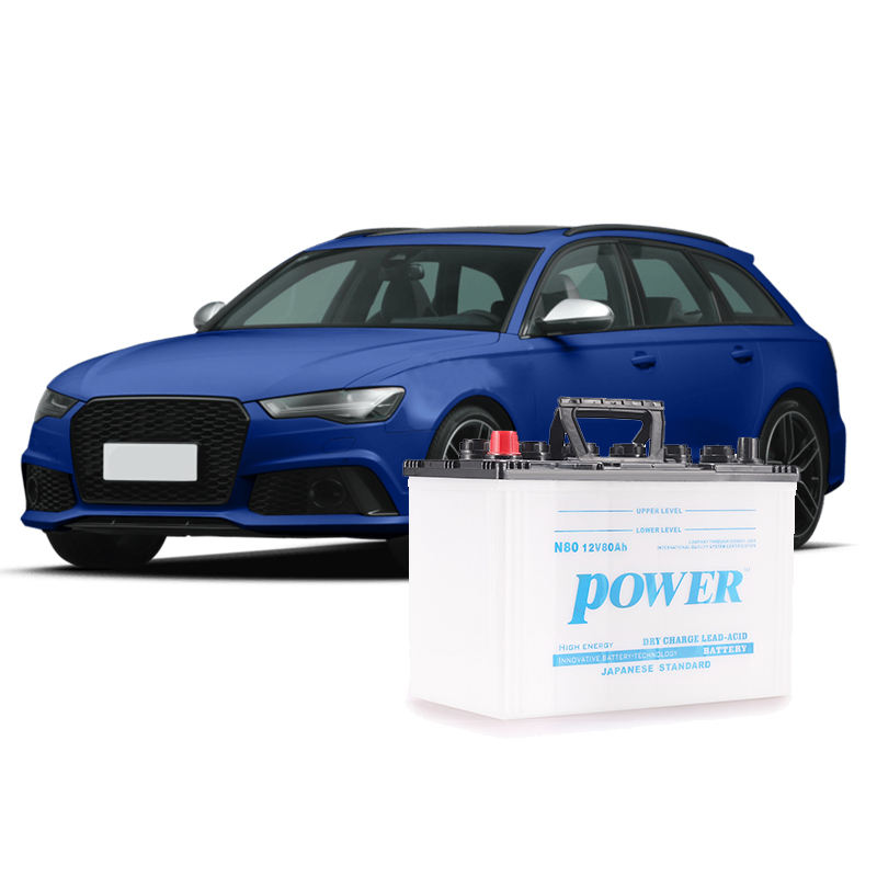 12v battery 80AH N80/95D31 high quality dry charged automobile car battery