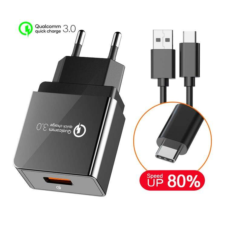 <span class=keywords><strong>Adaptor</strong></span> Isi Daya Cepat 18W Qualcomm CE, <span class=keywords><strong>Adaptor</strong></span> Daya Dinding Usb, Charger Cepat Ponsel Universal, Charger Dinding 3.0