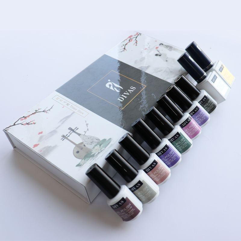 Nails Gel Uv Gel Polish Professional DIVAS Professional Ready To Ship Customized Kit OEM UV Nail Gel Polish Set