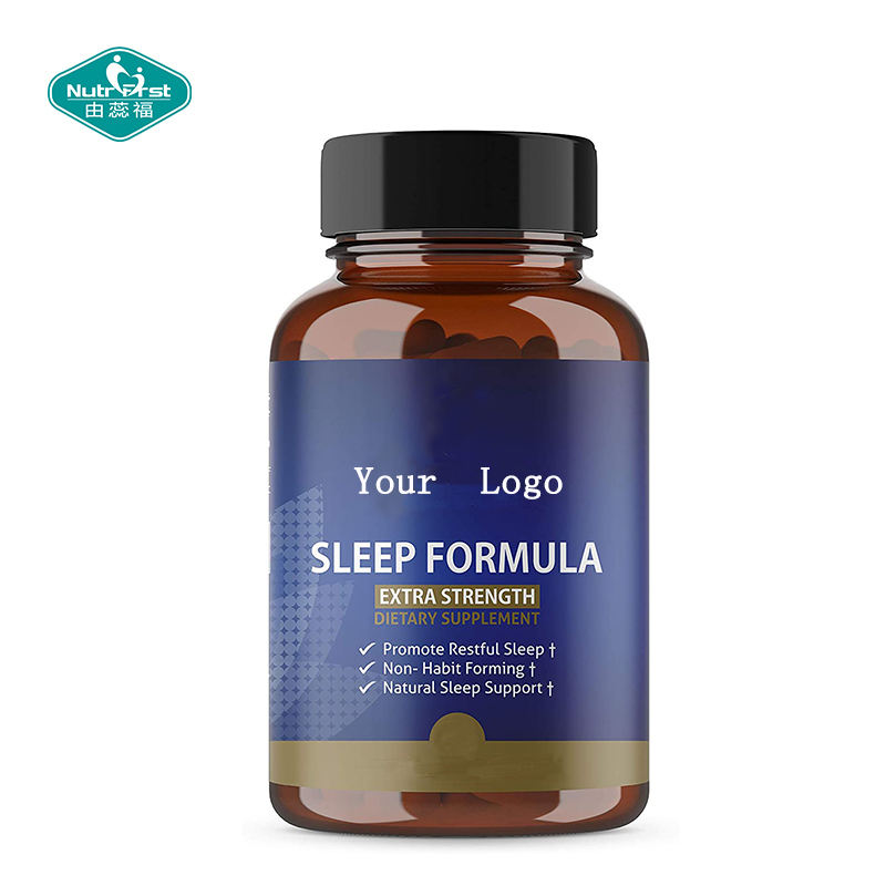 Dietary Supplement Herbal Calming Tablets Promote Sleep and Relaxation