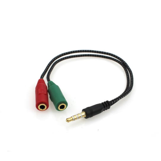 15cm 3.5mm Jack 1 male to 2 female Earphone Y splitter audio cable