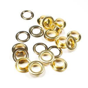 Factory supply high quality metal round brass curtain garment grommet eyelets