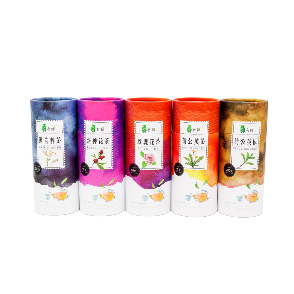 Customize Tea Package Paper Packaging Recycled Kraft Paperboard Perfume Bottle Paper Tube