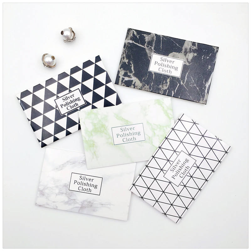 Dedicate Paper Envelope Packaging Watch Custom Jewellery White Silver Cleaning And Polishing Cloth With Logo