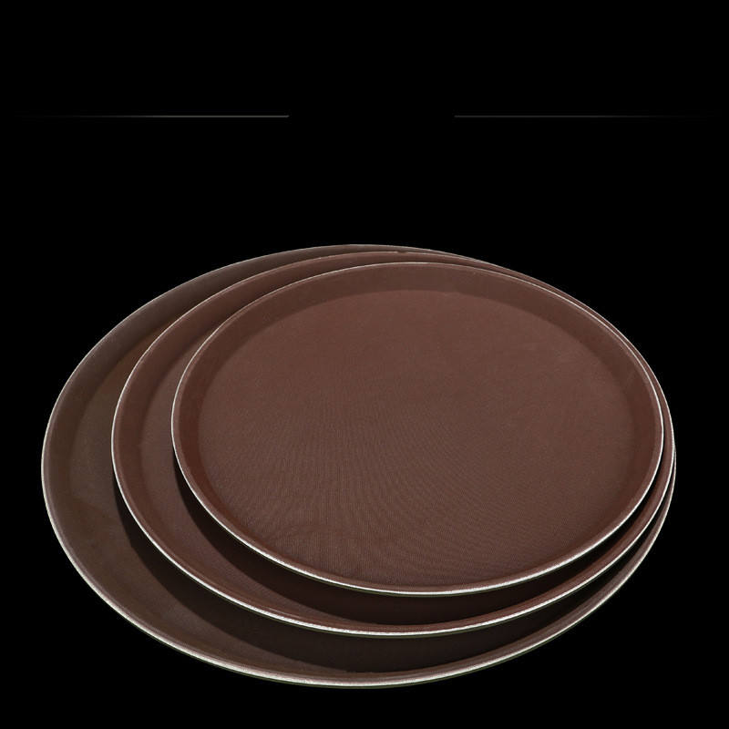 Most popular breakfast table tray black serving trays plastic tray for serving
