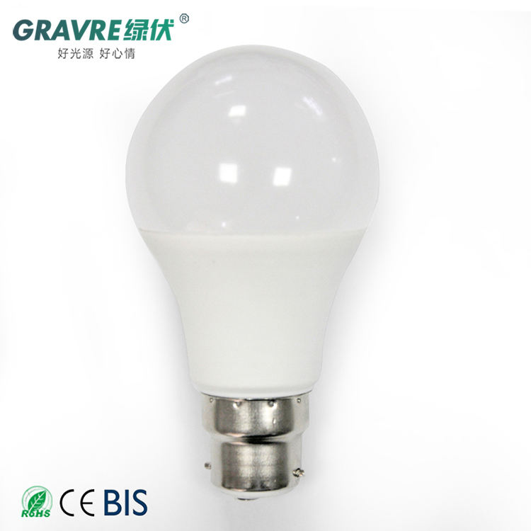 One-Stop Service [ 7w Led ] Led E27 Led Light China Manufacturer High Temperature Resistant Plastic 3W 5W 7W 9W 12W 15W 24W Lamp B22 E27 LED Bulb Light