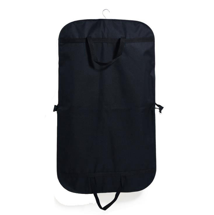"customized 40"" breathable men's suit easy carry mesh garment bag foldable suit cover print brand name nonwoven fabric bags"