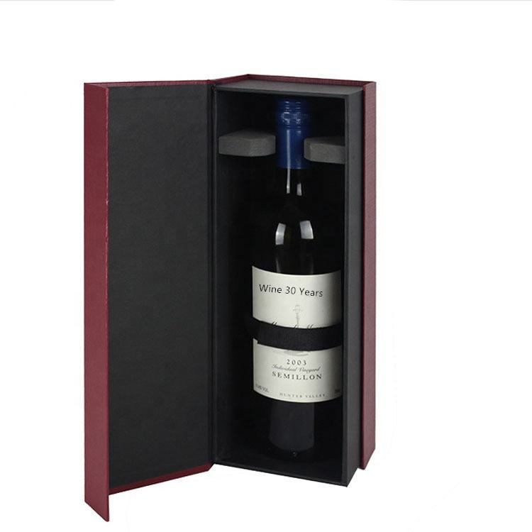 New design logo hard paper wine shipping boxes with foam insert