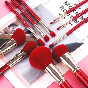 New Arrival Red Hair Professional Vegan Makeup Brush Set Private Label