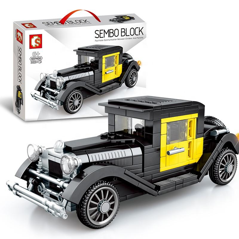 2021 Nieuwe <span class=keywords><strong>Speelgoed</strong></span> Vintage Cars Bouwstenen Technics Plastic Lego Bricks Kinderen <span class=keywords><strong>Speelgoed</strong></span> Voor Kinderen Gift Sembo 607400-607407