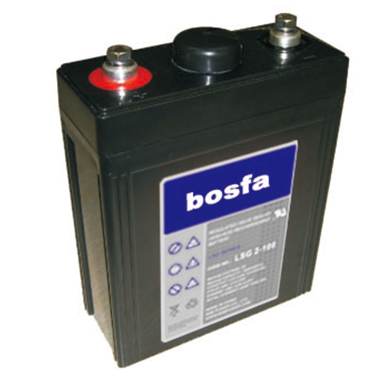 bosfa brand valve regulated lead acid 2v100ah/48v100ah gel battery for utility power storage