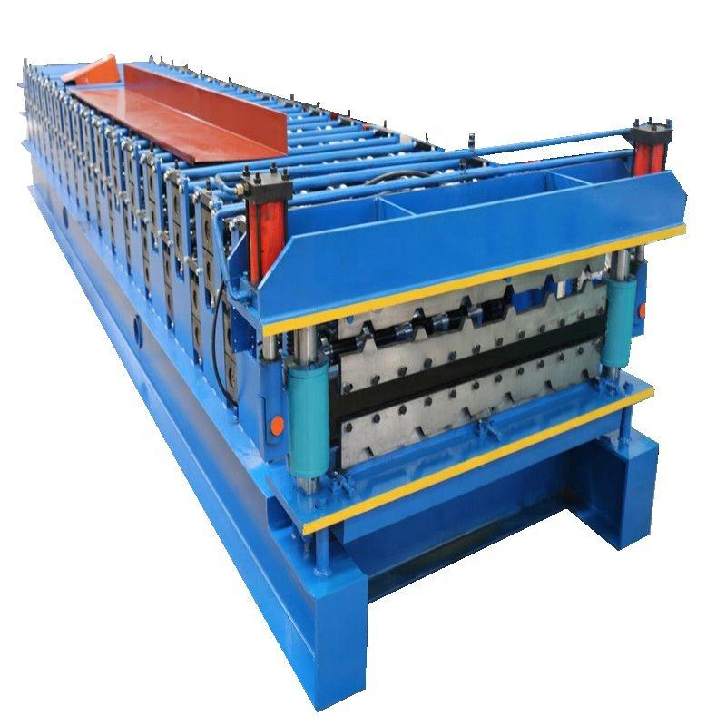 Double Layer Trapezoidal ibr roof and wall durable sheet roll forming machine