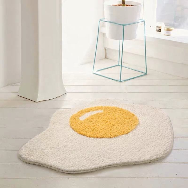 Fancy Kitchen Accessories Egg Rug Floor Washable Carpet Custom Door Mats