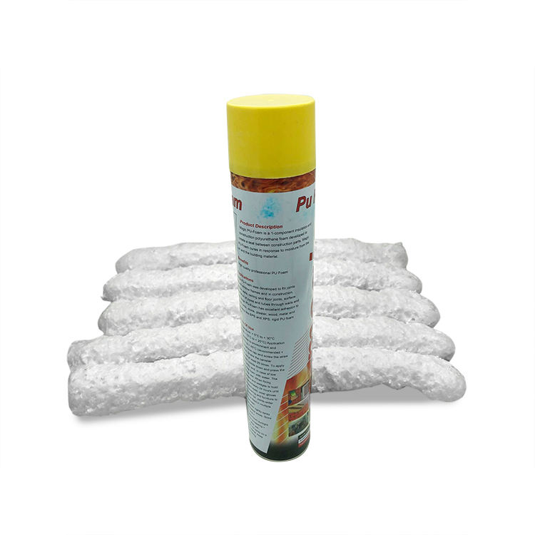 professional low expansion acoustic expanding PU foam spray can insulation polyurethane sealant