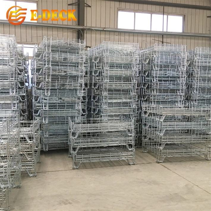 Folding Warehouse Metal Storage Steel Crate