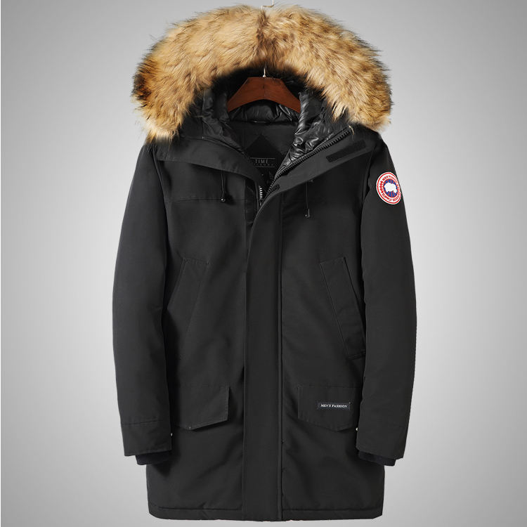 High Quality Fur Collar Thick Padded Jacket Men Winter Outdoor Windproof Long Cotton-Padded Jacket