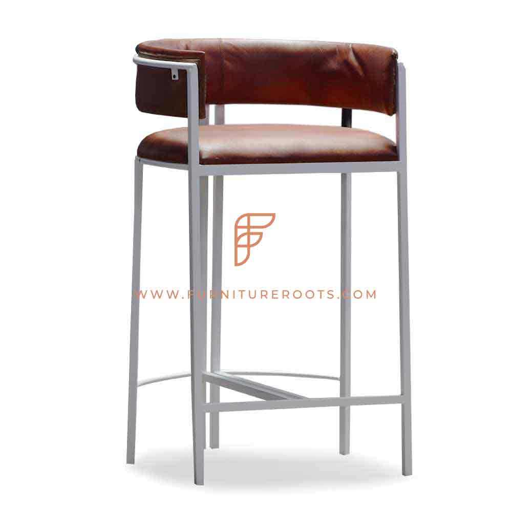 Tub Inspire Industrial Leather Bar Chair European Salon Furniture