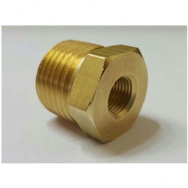 "3/4"" Male NPT x 1/4"" Female NPT Brass Hex Reducing Bushing MADE IN CHINA"