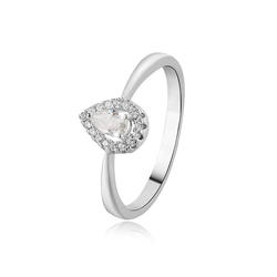 Zircon Jewellery 925  Sterling Silver Ring