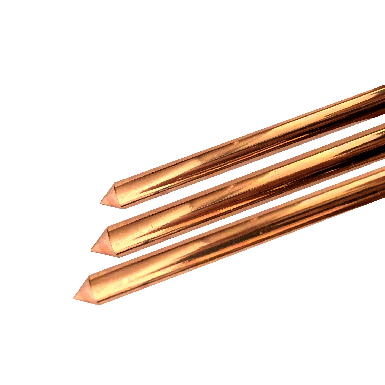 WZUMER Grounding Electrode Copper Bonded Earthing Rod Ground Rod