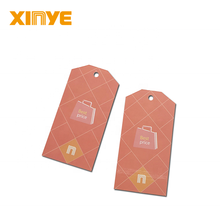 Hot sale UHF customized garment AVERY paper material paper hangtags RFID clothing brand tags for apparel/textile management