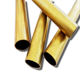 Low MOQ OEM size seamless H62 H65 brass tube pipe gold color copper pipe China factory supply