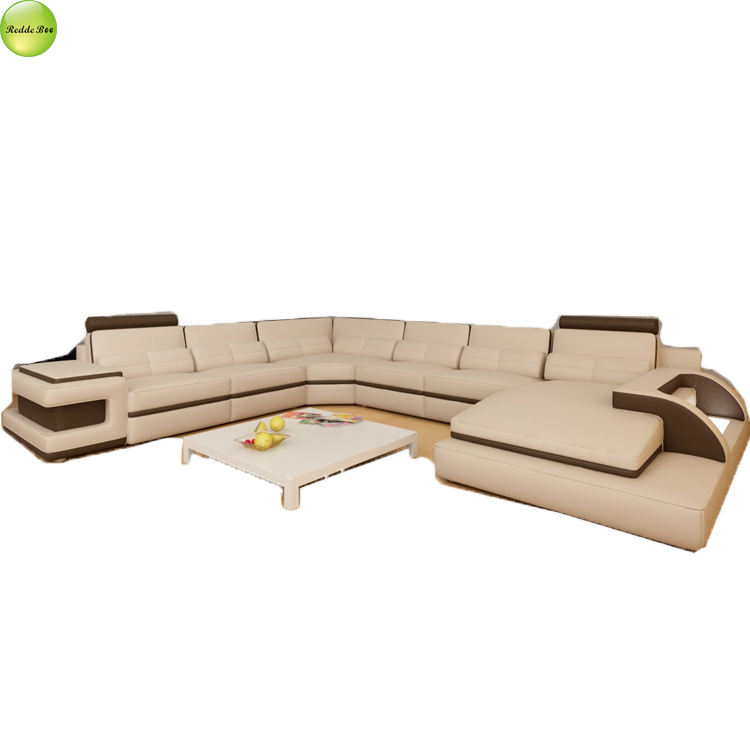 Luxury leather couches french recliner couch with led#6122