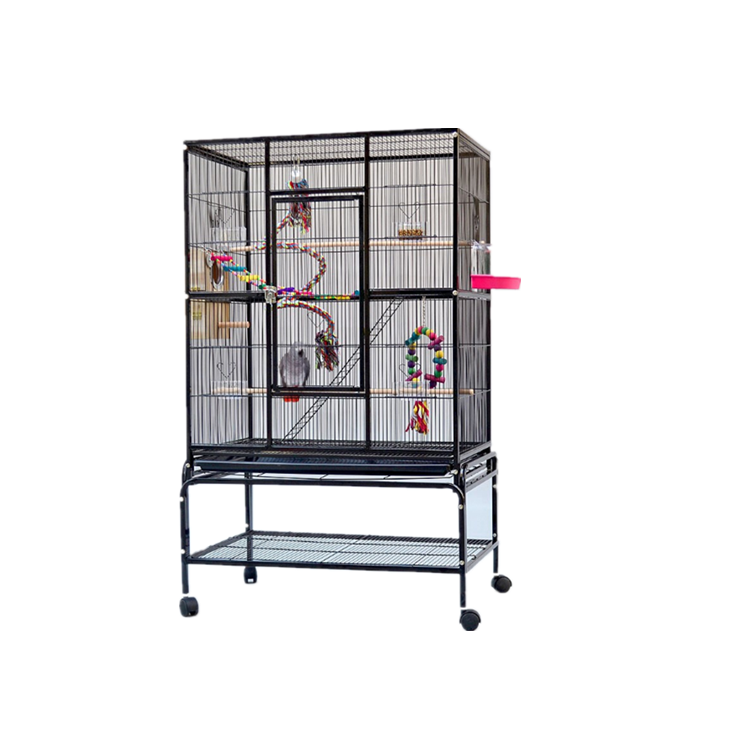 Wholesale large outdoor cheap wrought iron canary bird cage breeding cage