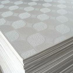 Factory Supply Decorative Fireproof PVC Paper Laminated Gypsum Boards False Ceiling Tiles for Ecuador