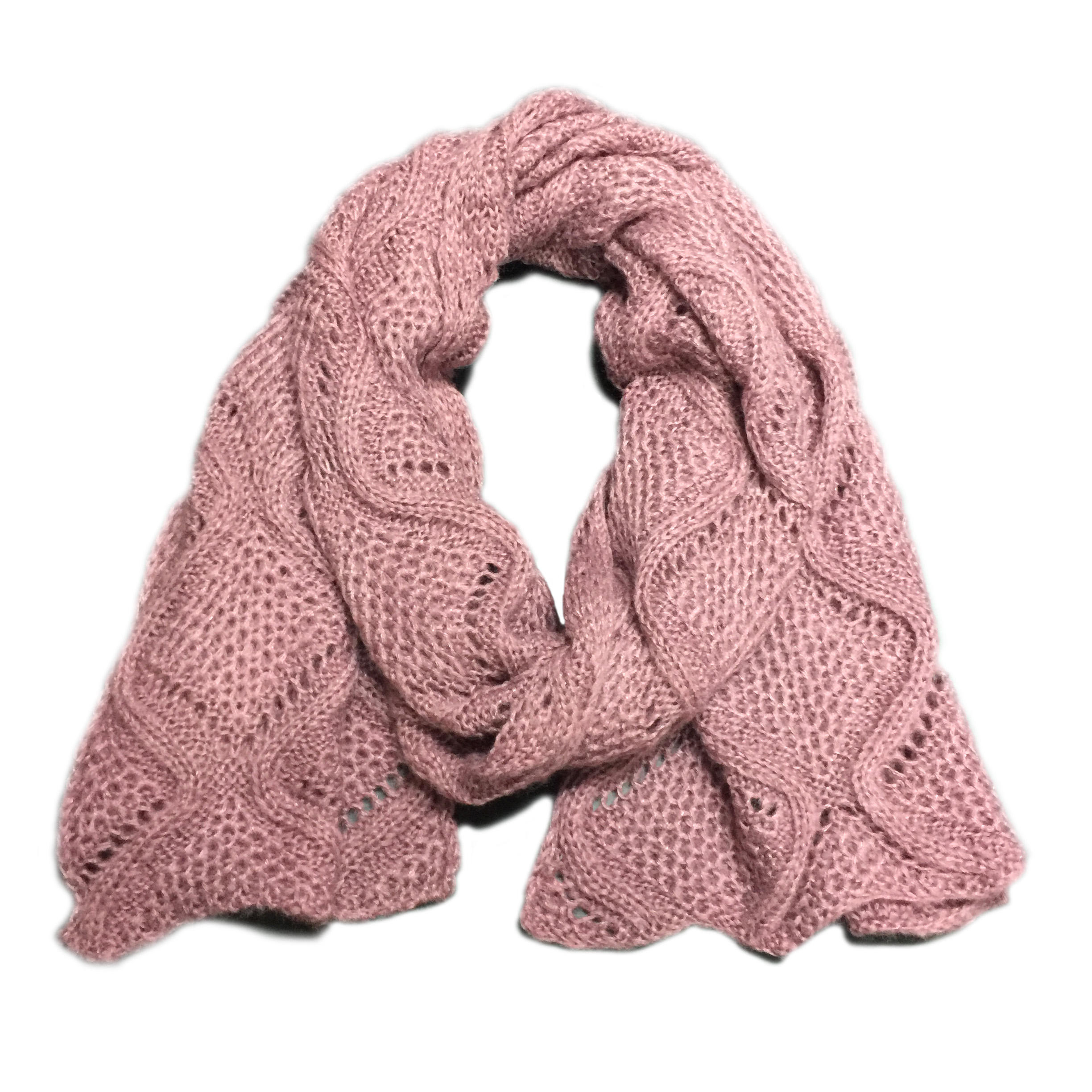Custom pink solid color scarf winter warm scarf knitted long line scarfs for women stylish