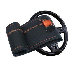 Car decoration car steering wheel cover hand-sewn car modifi