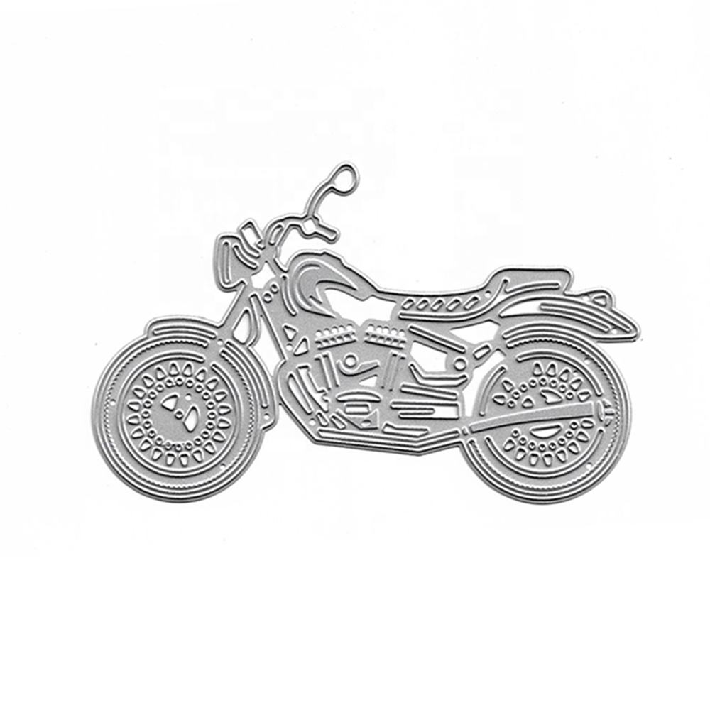 XY428 Cool Motorcycle Dies Stencils Scrapbooking Photo Album Embossing Craft Cards Making Clear Stamps Diy Metal Cutting Paper