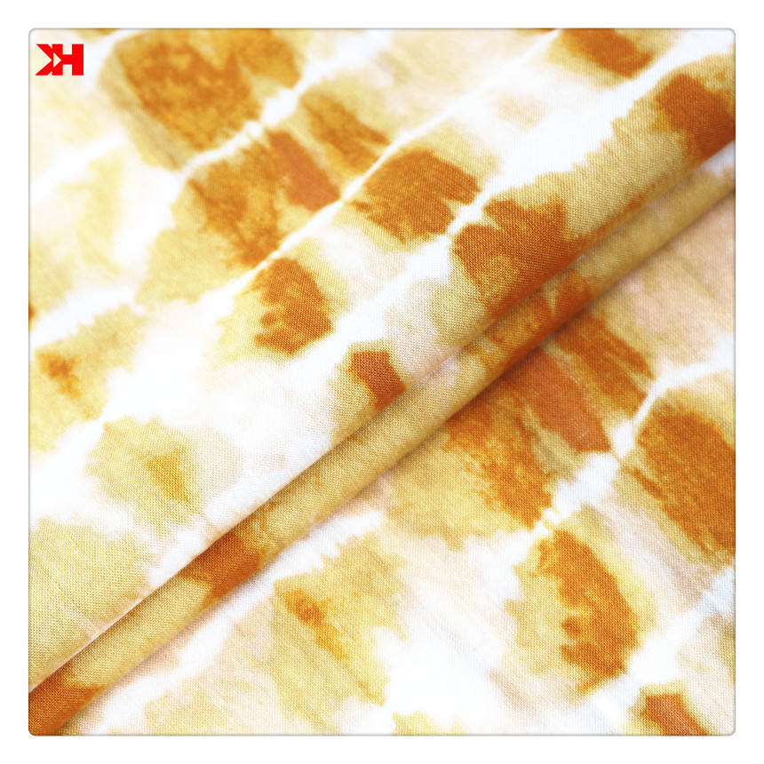 Designer Fabric Digital Printed Tie Dye Fabric Rayon Style For DIY Fabric Paint Clothing Dress