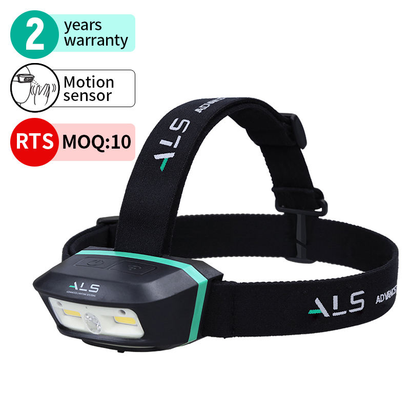 ALS 250lm Detachable Rechargeable Light Outdoor Motion Sensor Light LED Headlamp Waterproof Magnetic Work Light Headlight