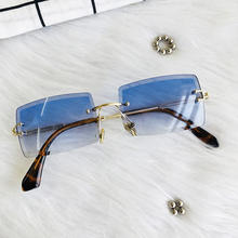 HBK 2020 Hot Sale Street Beat Sunglasses 2020 Women Fashion Rimless Square Sun Glasses K34035