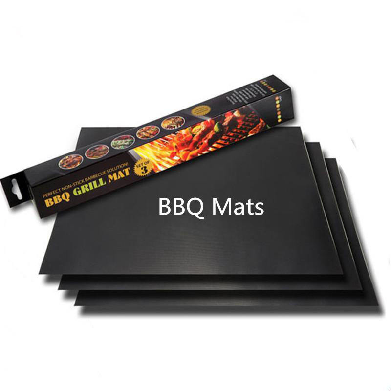 BBQ Grill Mat Non-stick and Heat Resistant Mats for Charcoal Electric and Gas Grill FDA Approved PFOA Free