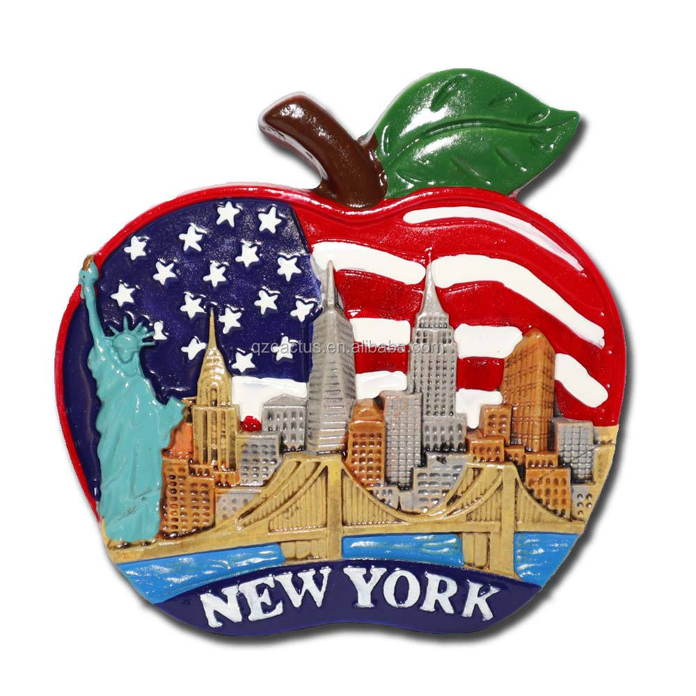 Customized resin fridge magnet souvenirs new york