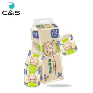 Paper Tissue Manufacturers Custom Logo Printed Tissue Paper Bathroom Toilet Tissue