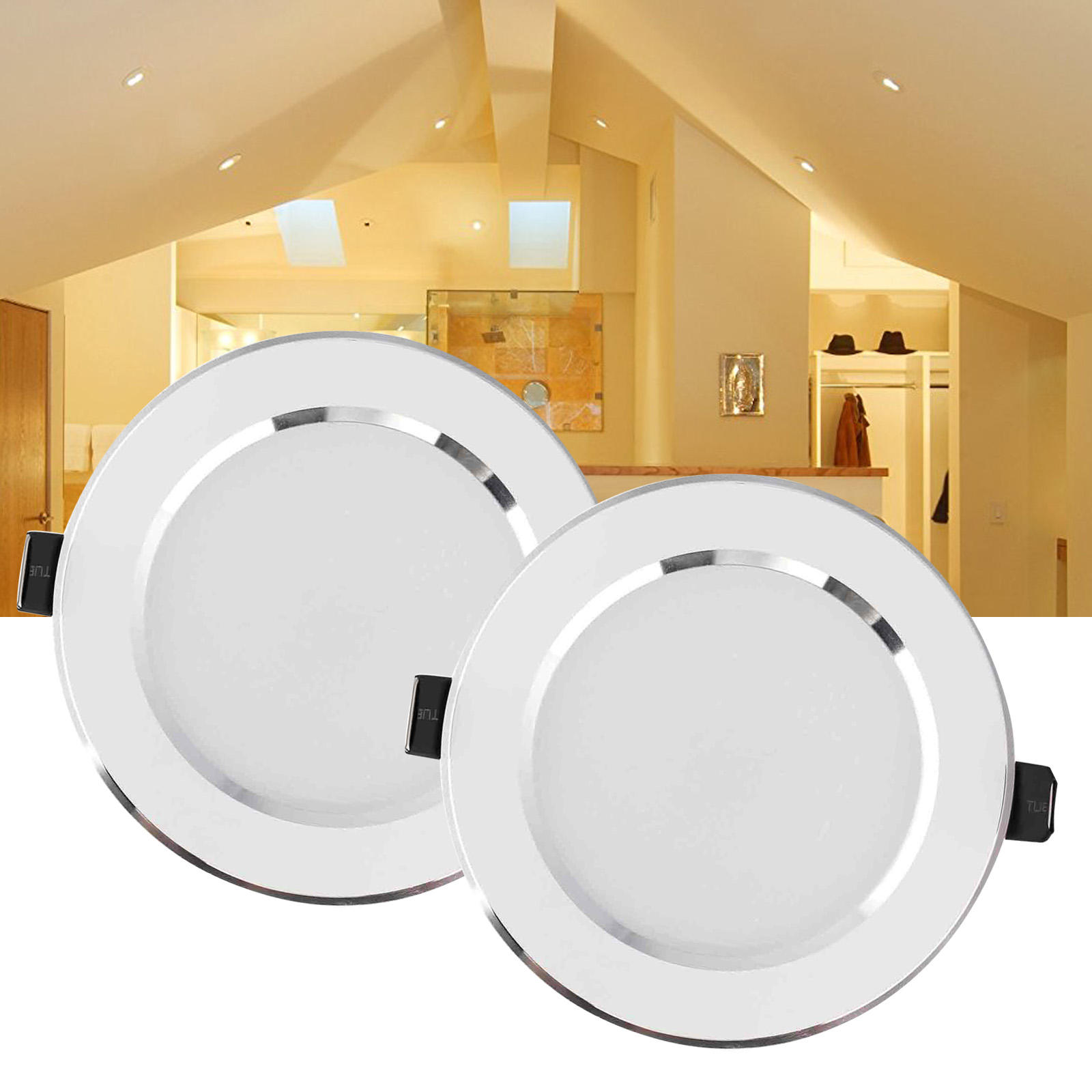 Dimbare LED Inbouw Plafond Downlight 7W Warm Wit Lamp 220V + Driver Spot Light Indoor Verlichting Voor home Office Decor
