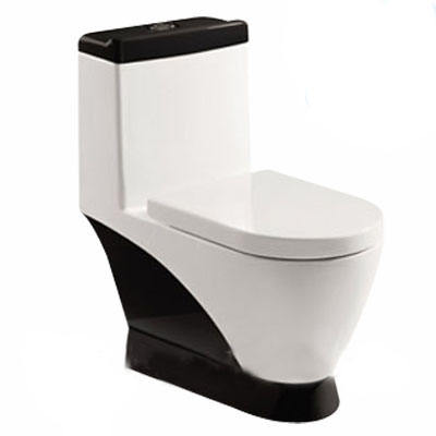 KD-04CT Bathroom colored sanitary wares cheap washdown black color toilet