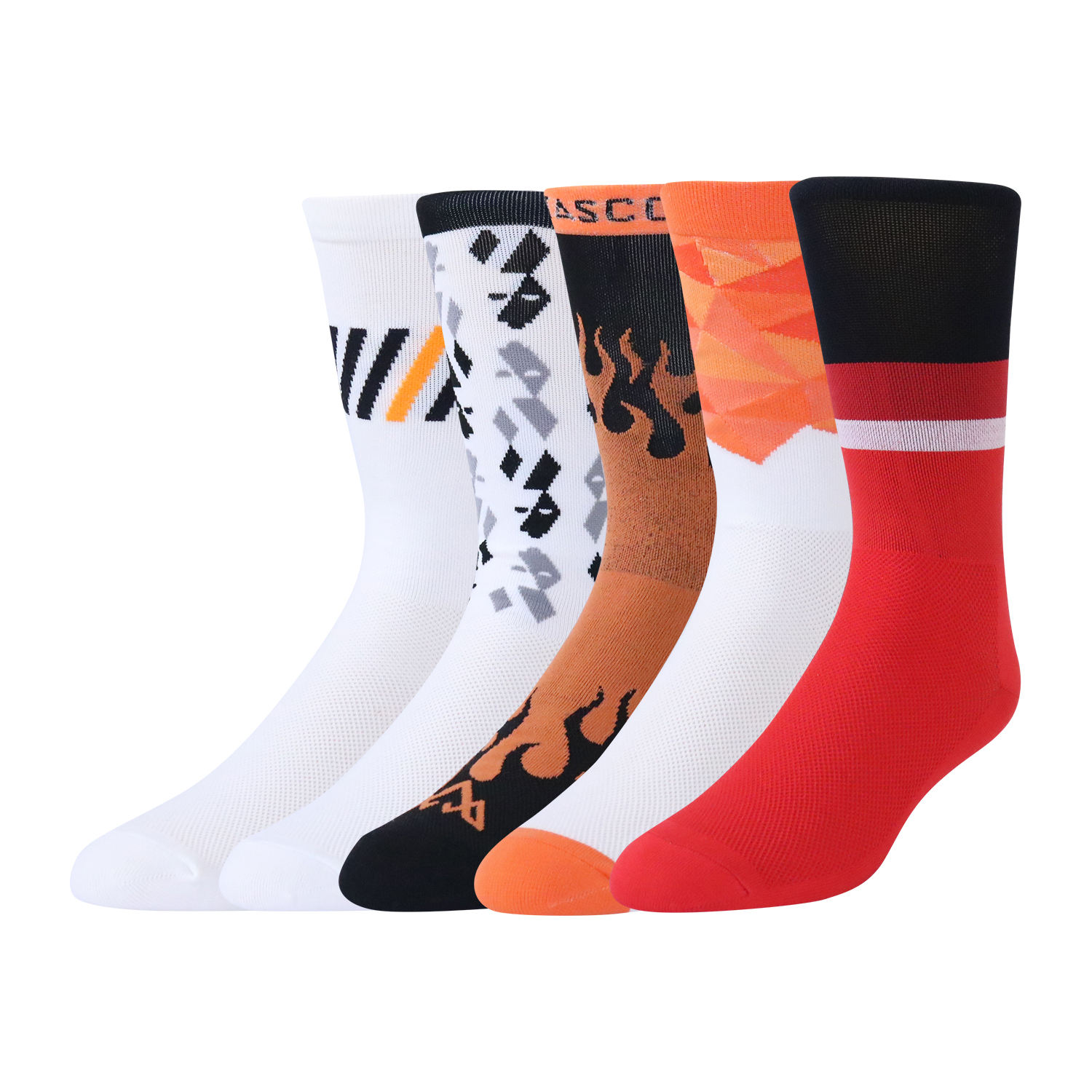 Oem custom logo coolmax nylon compression cycling socks for men