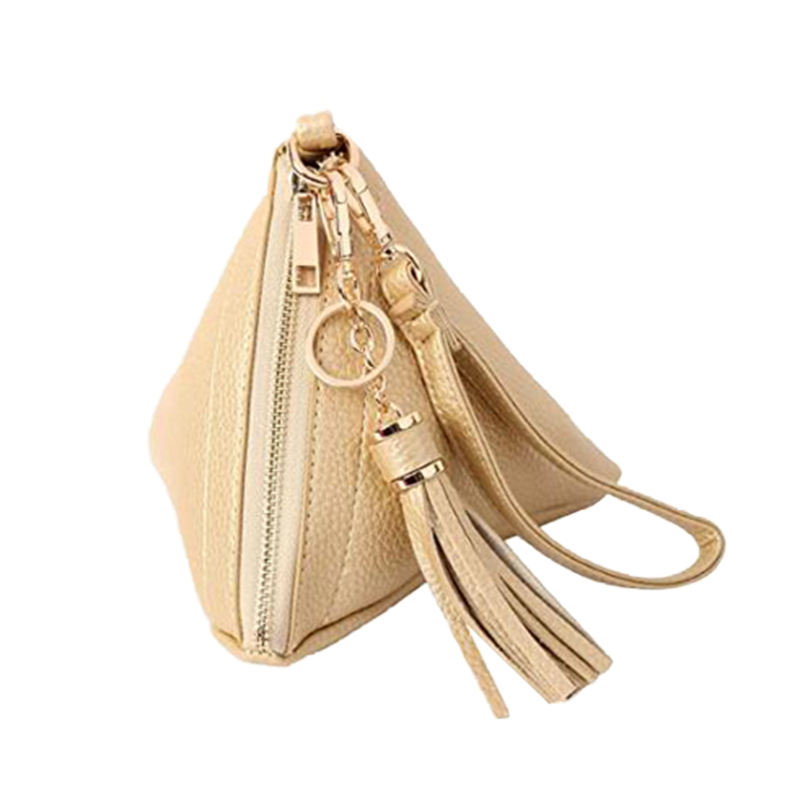 Luxury Key Storage Earbud Pouch Cute Zipper Coin Purse With Tassel