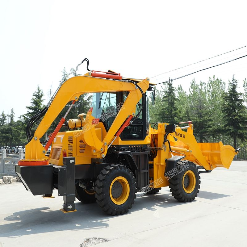 road construction machinery 1m3 wheel loader tractor front loader