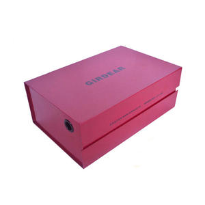 Wholesale white pink custom logo label printing made premium cardboard shoe box with magnet