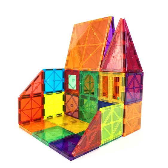 Magna Tiles 100pcs Clear Color 3D Magnetic Building Tiles Magplayer Factory Directly Supply Magnetic Tiles Building Blocks