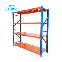 LIJIN Manufacture Factory 200KG Per layer Powder Coated Metal Light Duty Warehouse Storage Rack Shelf